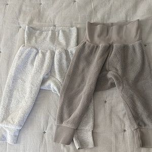 Set of 2 Zutano fleece cozie pants
